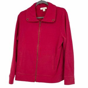 Tradition red full zip lightweight jacket